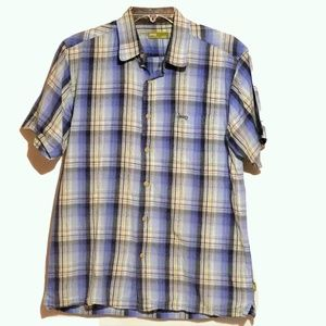 Jeep Short Sleeve Button Down Casual Shirt M